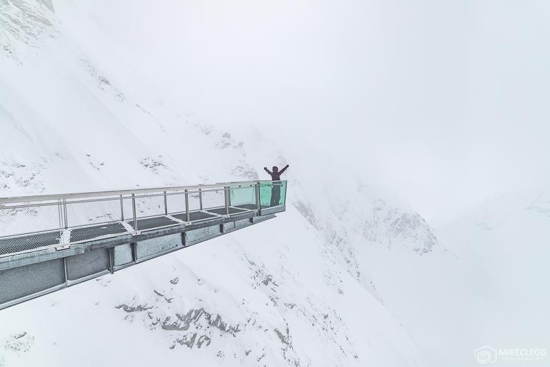 Plataforma de visualização na Galeria do Parque Nacional Gipfelwelt 3000