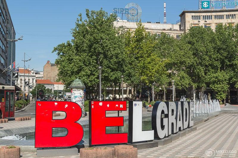 Placa de Belgrado na Praça Nikola Pašić