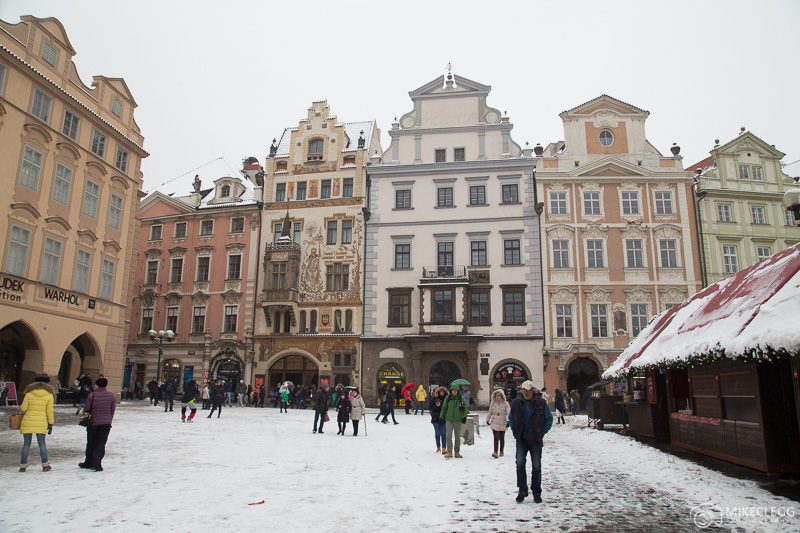 Ruas na cidade velha de Praga