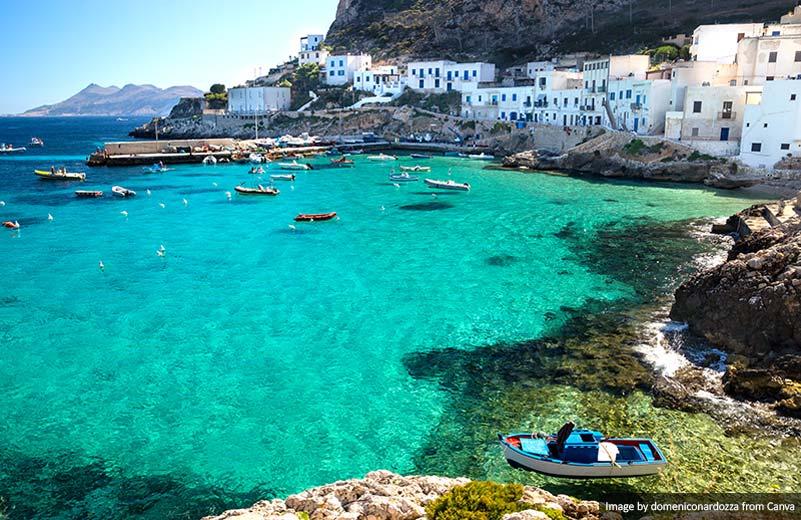 Ilha Levanzo Trapani Sicília