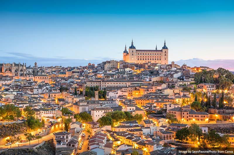 Toledo, Espanha Horizonte da cidade