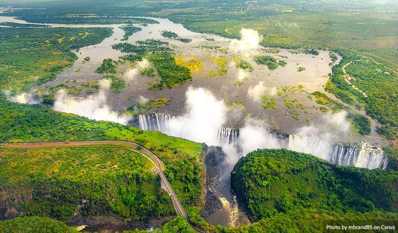 Victoria Falls no Zimbábue