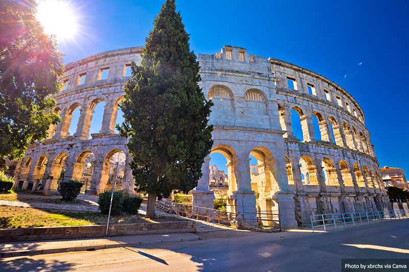 Anfiteatro Romano Arena Pula, Croácia