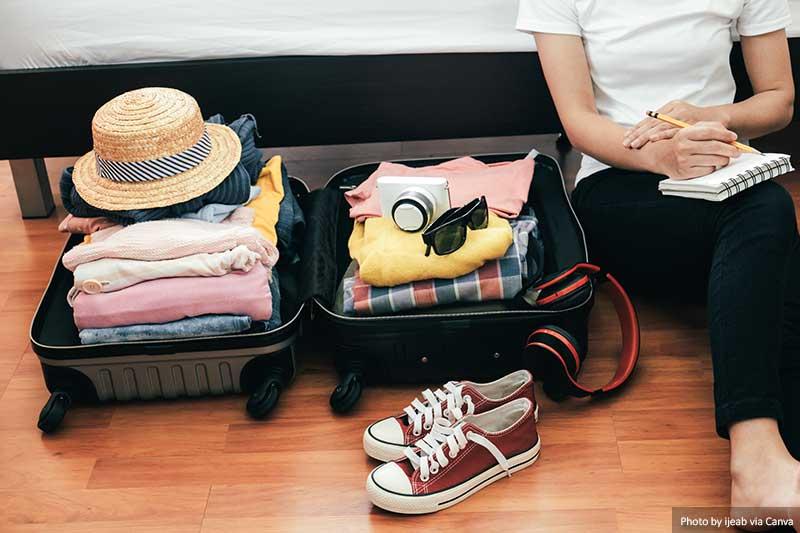 Fazendo malas para as férias