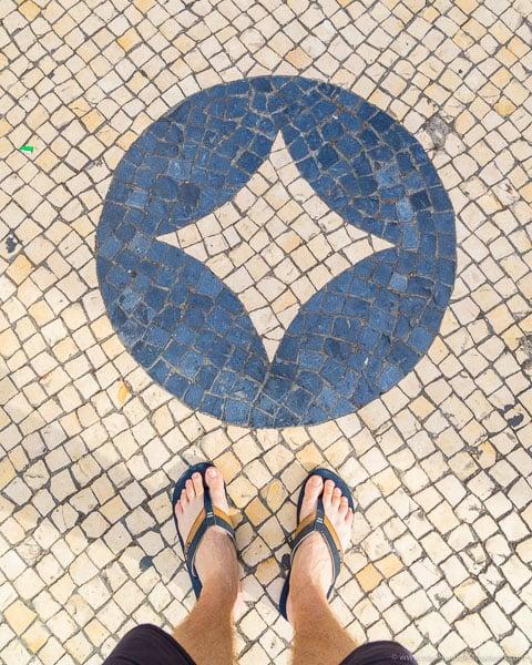 Pavimento de paralelepípedos em Lisboa