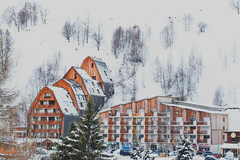 Edifício de alojamento de esqui