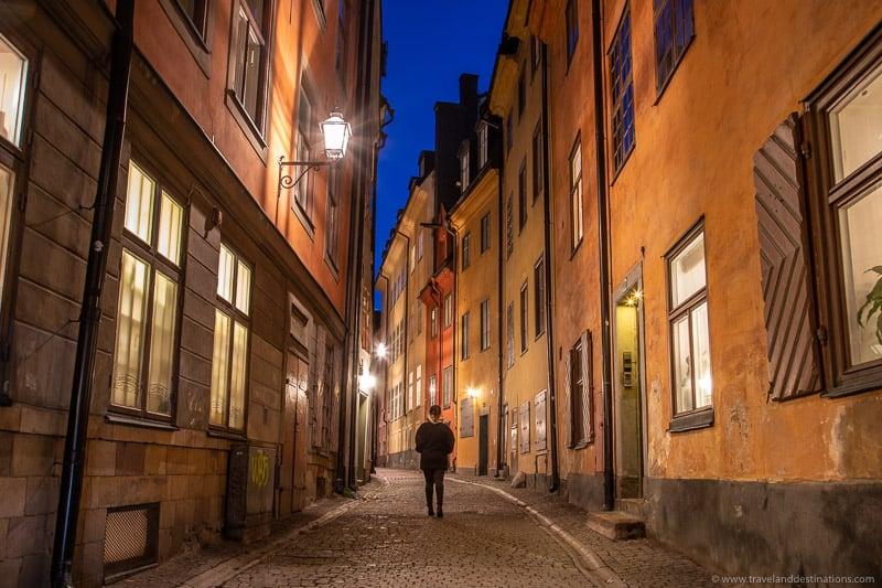 Prastgatan, Gamla Stan à noite