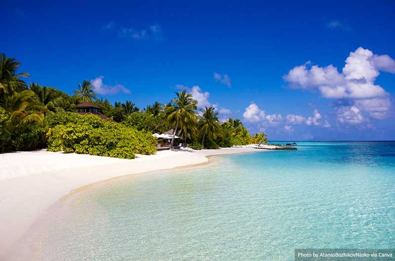 Ilha Veligandu nas Maldivas