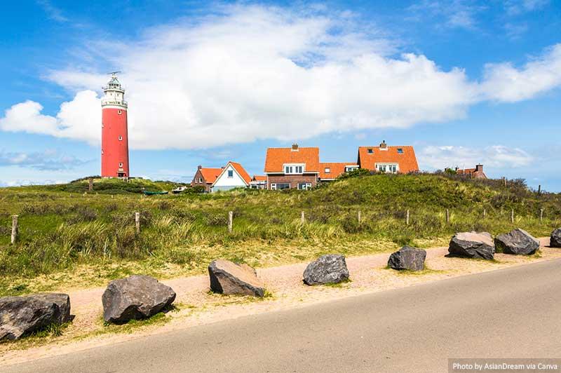 Farol na ilha de Texel