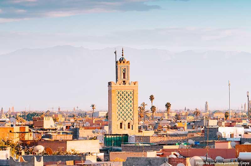 Antiga cidade de Medina de Marraquexe, Marrocos