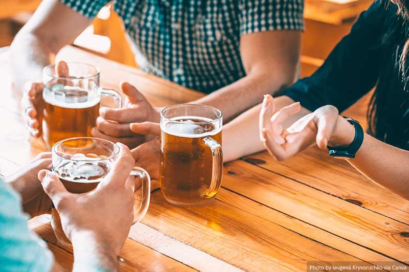 Cerveja e amigos