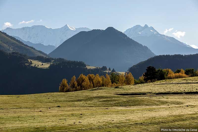 Vale verde nas montanhas do Cáucaso, Tusheti