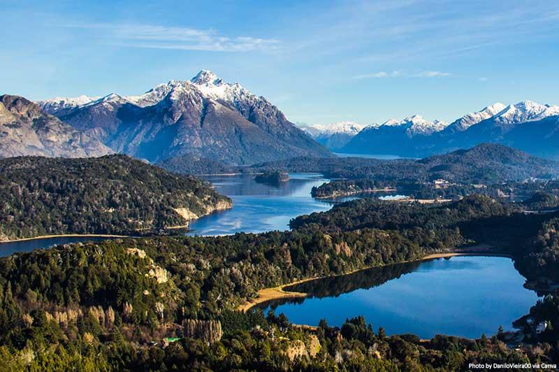 Lago Nahuel Huapi perto de Bariloche, Argentina