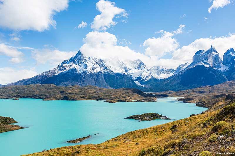 Torres Del Paine - vistas do lago e da montanha