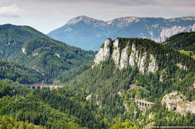 Ferrovia de Semmering na Áustria