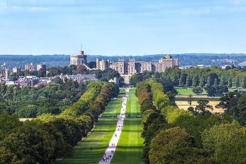 Castelo de Windsor e The Long Walk