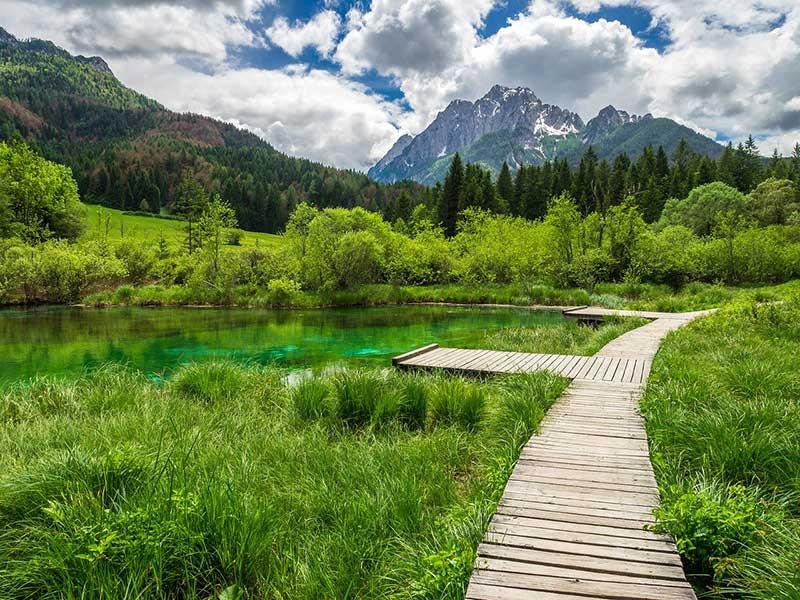 Paisagens do Parque Nacional de Triglav, Eslovênia