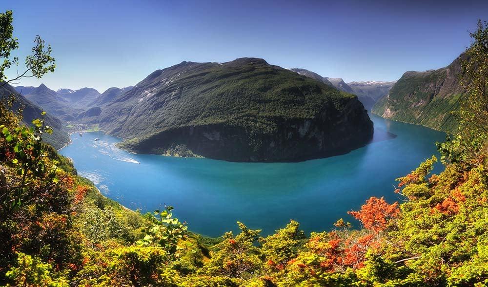 Geirangerfjord na Noruega