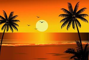 Red Sunset Beach