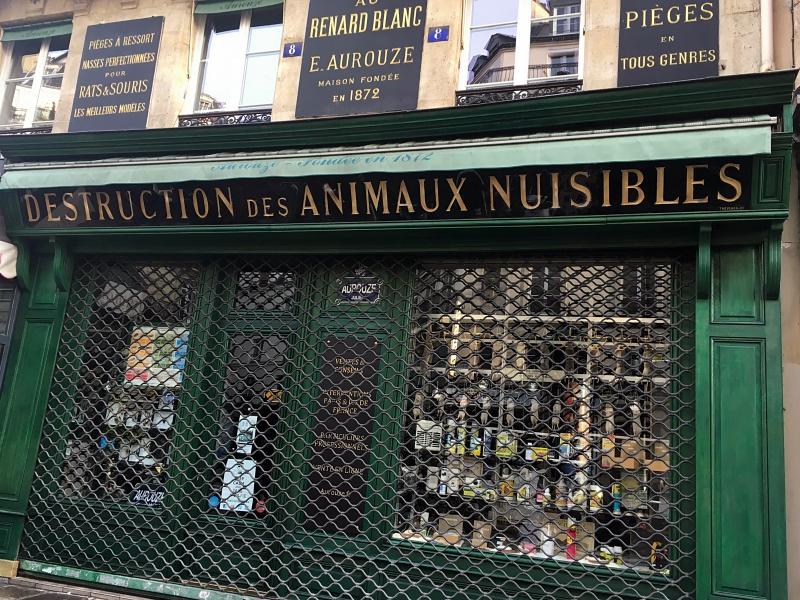 Paryż, Sklep zpułapkami nam.in szczury