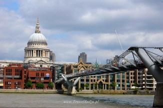 Londyn królewski trakt, Millenium Bridge iKatedra św.Pawła