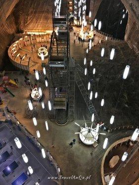 Główna sala w kopalni soli w Turdzie w Rumunii