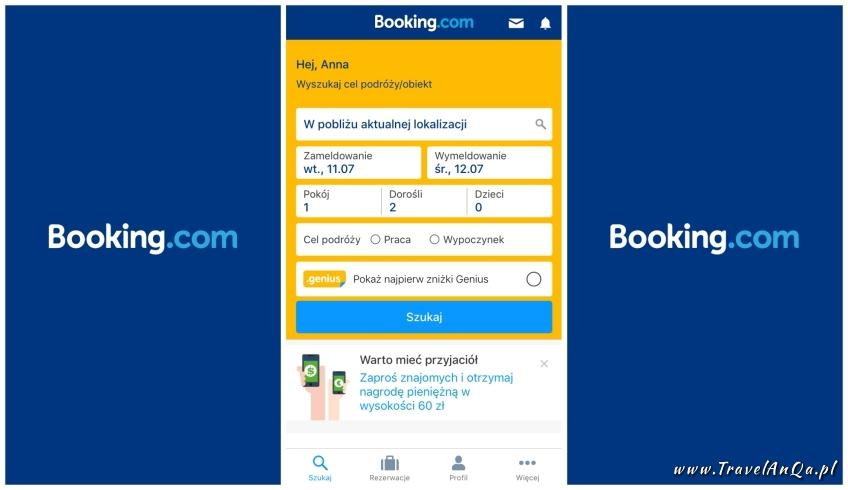 Aplikacje dla podróżników - Booking.com