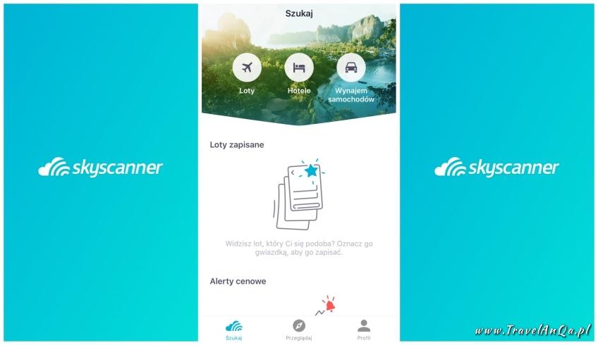 Aplikacje dla podróżników - SkyScanner