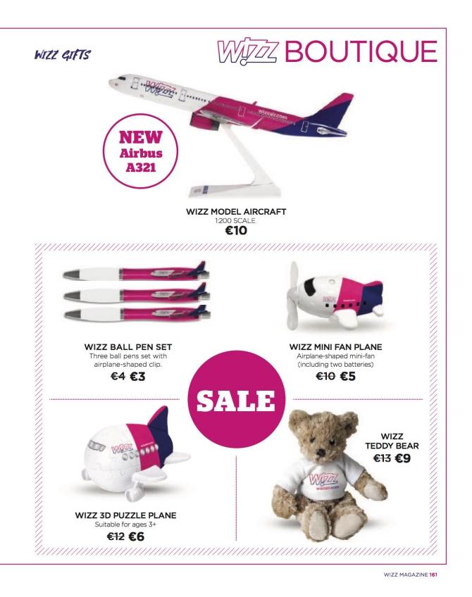 Zakupy napokładzie samolotu Wizz Air