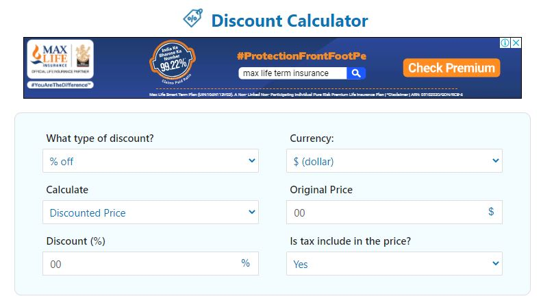Percentage Discount