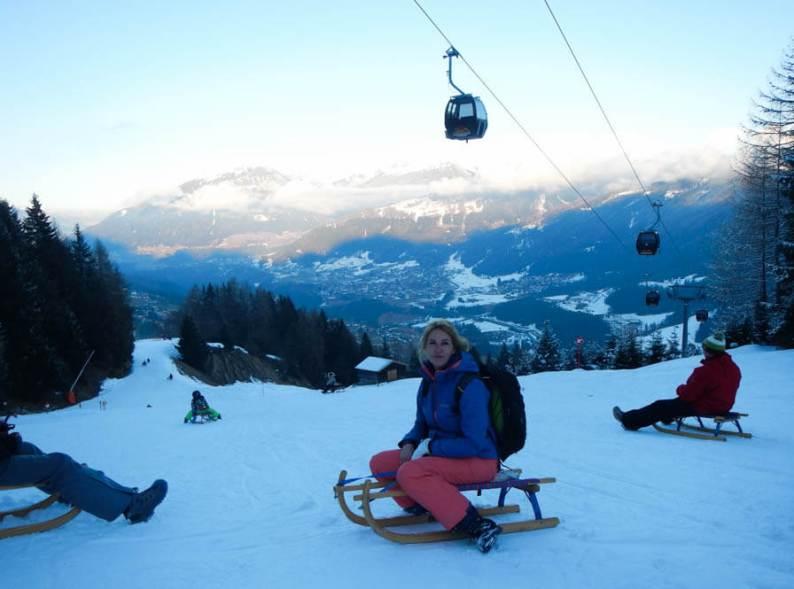 Avondrodelen-rodelen-sleeen-Schlick2000-Stubai -Oostenrijk