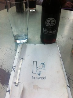 Fritz cola bij lunchroom Kraweel