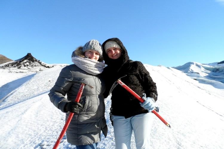 Gletsjerhiken met mijn zus