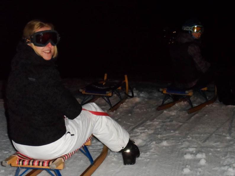 Winter slee avontuur in het donker - Flims