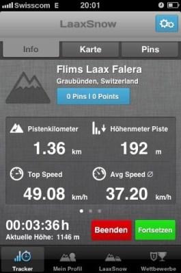 Laax, speed snow app