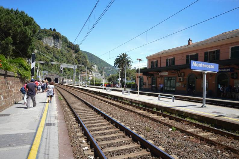 Reizen met de trein naar Monterosso al Mare