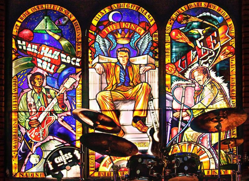 Hard Rock Cafe Cancun Stained glass window