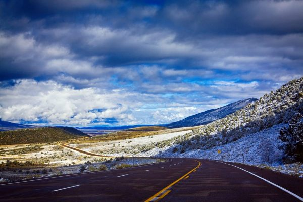 Utah country road in the Fishlake National Forest mountains