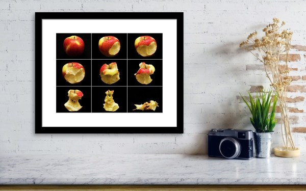 Eat and apple - framed art print poster by Tatiana Travelways