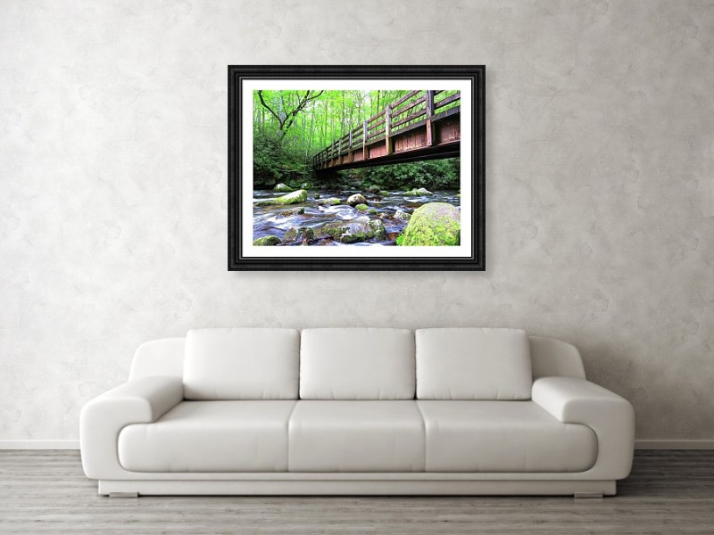 Smoky Mountain Bridge Framed Print by Connor Beekman