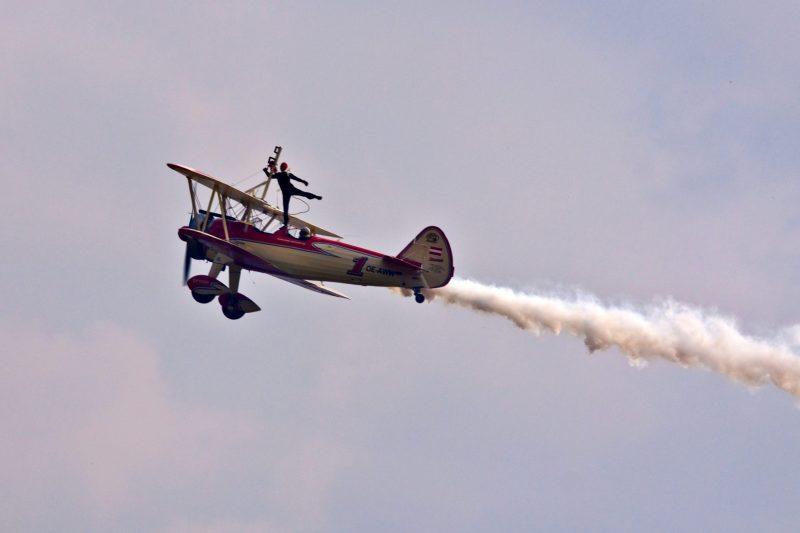 Acrobatic flight at Friedrichshafen Aircraft Trade Show