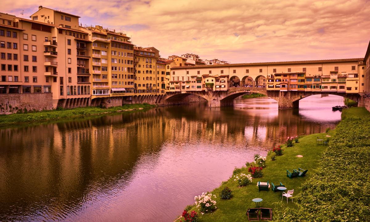 Medieval destination in a modern era, a look at Ponte Vecchio in Florence by Eduardo José Accorinti