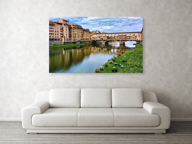 Canvas print of Ponte Vecchio in Florence, Italy, by Eduardo José Accorinti