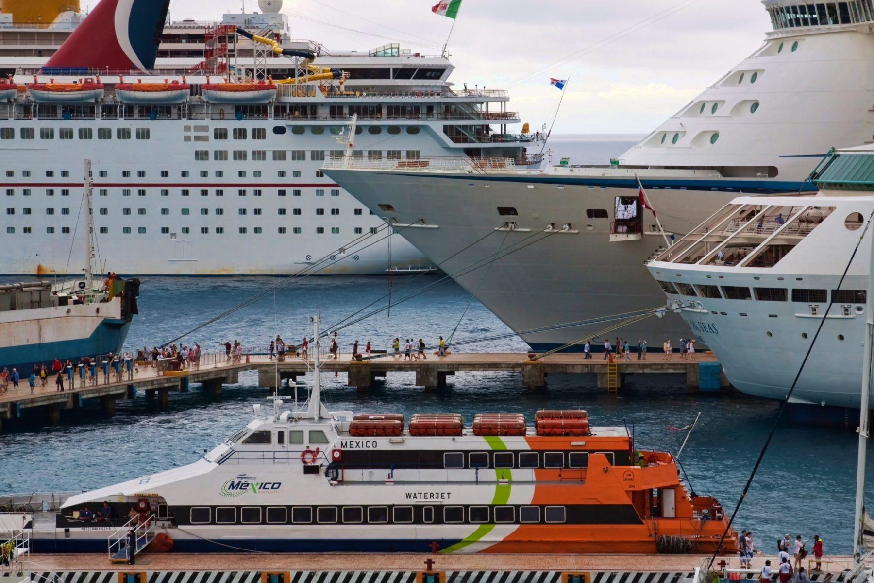 Cruise ships in Cozumel Mexico