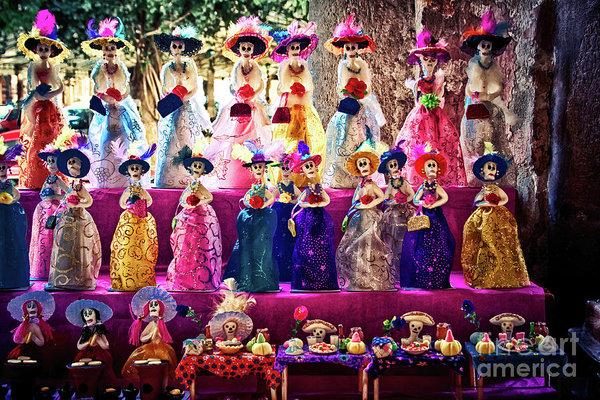 Mexican La Calavera Catrina on the Day of the Dead