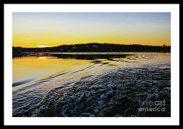 Sunset on the water - Nova Scotia, Canada, framed print