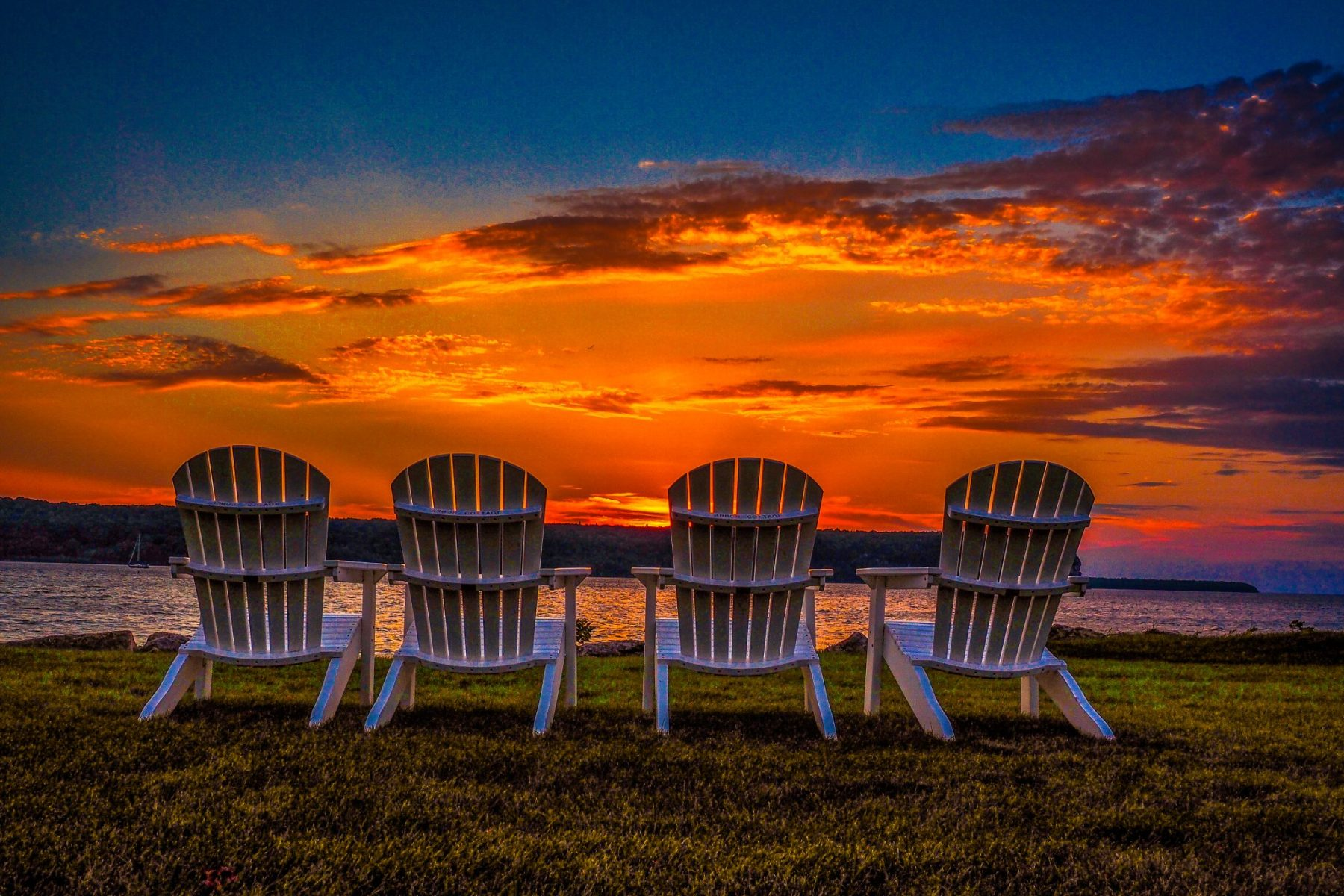 Four Chairs at Sunset