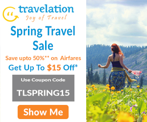 Spectacular Spring Travel Deals. Book now and Get $15 Off with coupon code TLSPRING15. Hurry! Offer Valid for Limited Period Only.