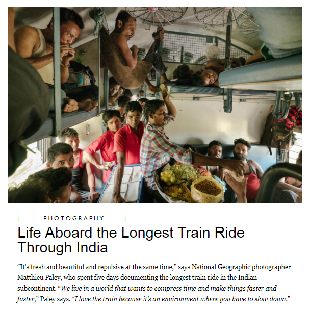 Vivek Express, the longest train ride in India