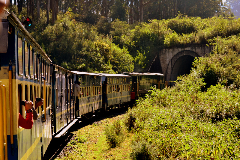 On board the Nilgiri Mountain Railway